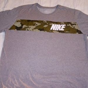 Nike dri-fit tshirt with camo stripe